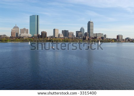 Boston Skyline Evening