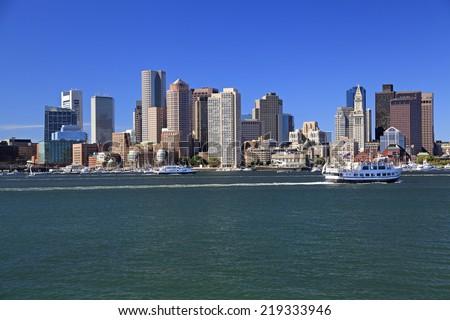 Boston skyline, USA - stock photo