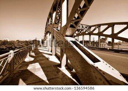 Boston University Bridge, Cambridge, Massachusetts - stock photo