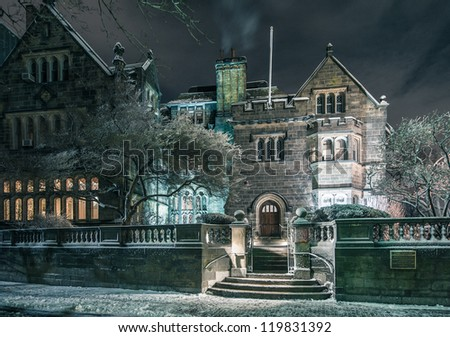 Boston University's Tudor Revival mansion The Castle - stock photo