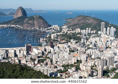 Botafogo Neighborhood View With the Sugarloaf Mountain View, Rio de Janeiro