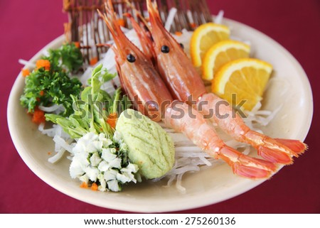 Botan Shrimp sashimi - stock photo
