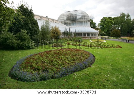 Botanic gardens in Belfast, Ireland - stock photo