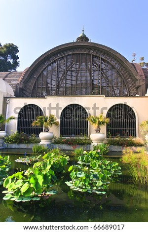 Botanical Building in Balboa Park, San Diego, California. - stock photo