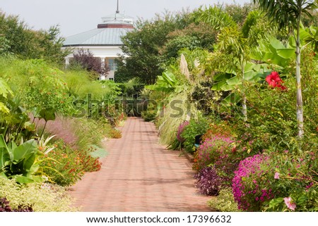 Botanical Gardens And Walkway