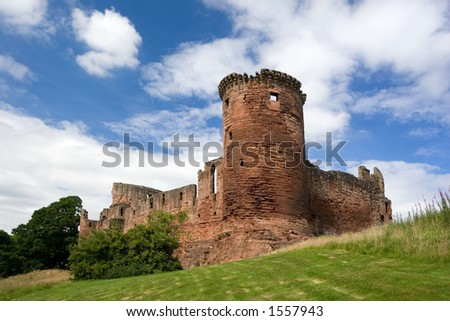 Bothwell Castle, Lanarkshire, Scotland, a former stronghold of the Douglas family. - stock photo