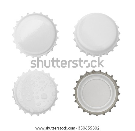 Bottle cap isolated on white background. without shadow - stock photo