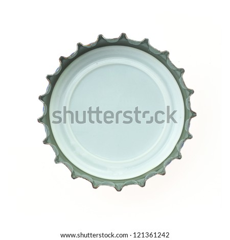 bottle cap on white background