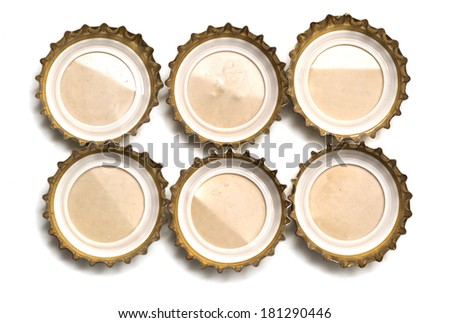bottle cap on white background. macro - stock photo