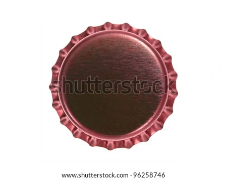 Bottle caps isolated against a white background - stock photo