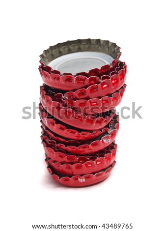 Bottle caps isolated on white