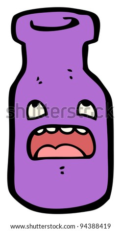 bottle cartoon character (raster version) - stock photo