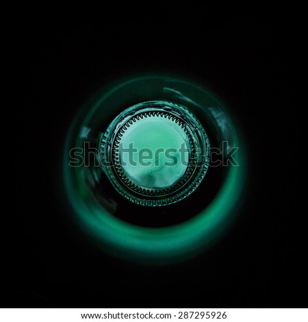 Bottle inside - abstract - stock photo