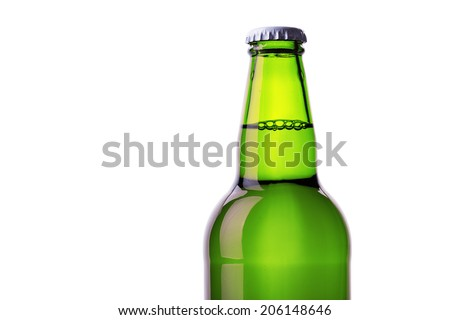 bottle of beer Isolated on white background