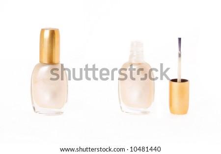 Bottle of classic shine nail polish,isolated - stock photo