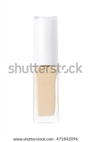 Bottle of foundation cream isolated on background