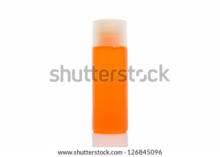 bottle of health and beauty product isolated on white background - stock photo