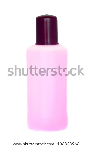 Bottle of Nail Polish Remover - stock photo