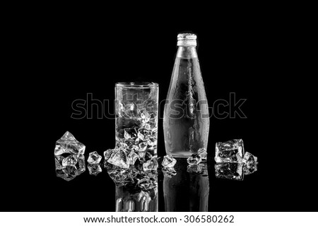 Bottle of Natural Mineral Water - stock photo