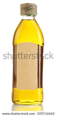 bottle of oil, isolated on white