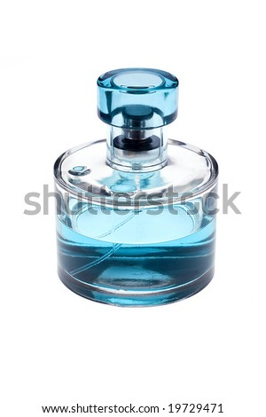 bottle of perfume on white