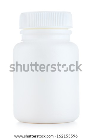 bottle of pills, isolated on white background