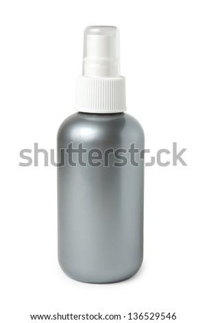 Bottle of spray isolated on white background