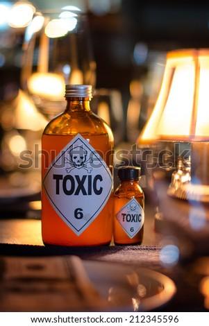 Bottle of toxic - stock photo