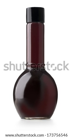 bottle of vinegar isolated on white with clipping path