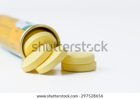 bottle of vitamin pills