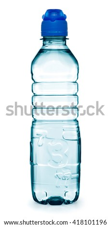 Bottle of water isolated on white background. - stock photo