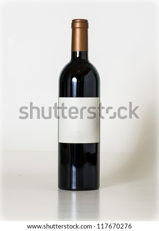 Bottle of wine. - stock photo