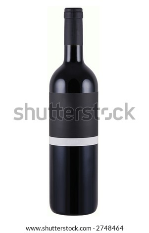 Bottle of wine with blank label