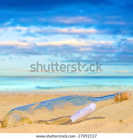 Bottle on a sand