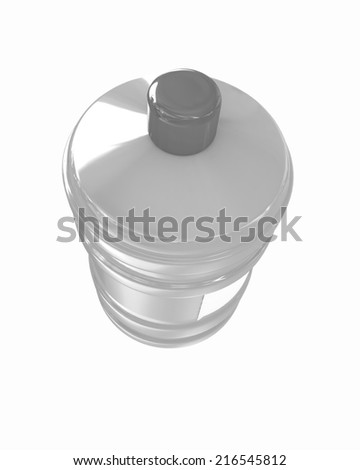 Bottle with clean water on a white background - stock photo