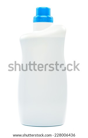 Bottle with liquid detergent isolated on white background. - stock photo