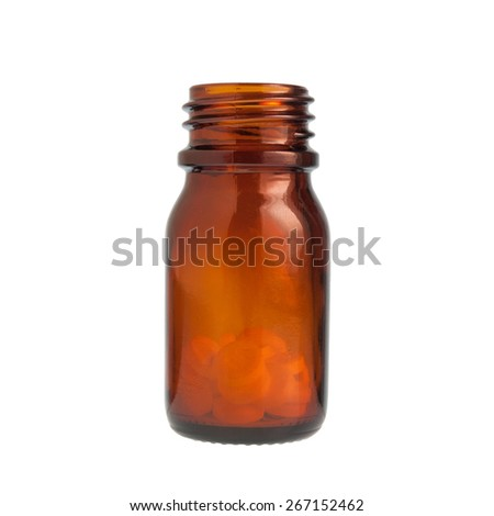 Bottle with pills - stock photo