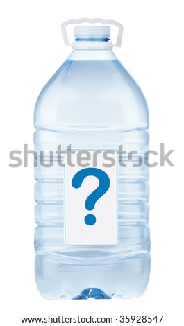 Bottle with water 3 - stock photo