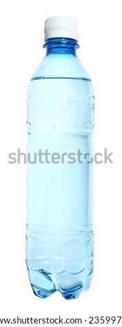 Bottle with water on a white background.