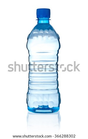 Bottle with water on white background - stock photo