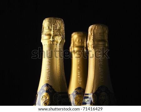 Bottleneck Champagne - stock photo