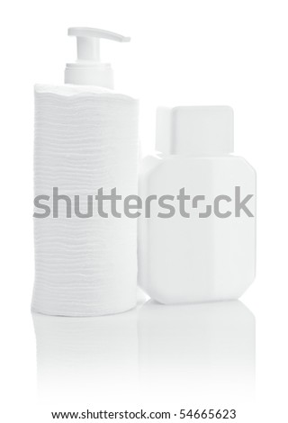 bottles and pads - stock photo