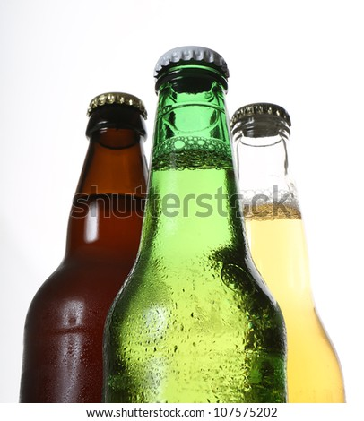 bottles of beer - stock photo
