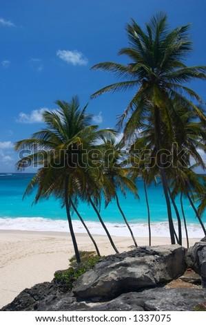 Bottom Bay Beach, Barbados - stock photo