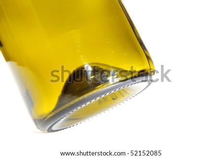 bottom of a bottle - stock photo