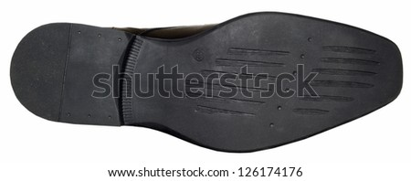 Bottom of shoes, isolated on white background. - stock photo