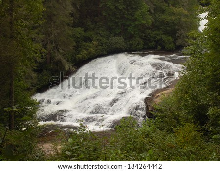 Bottom of Triple Falls in DuPont State Forest, North Carolina