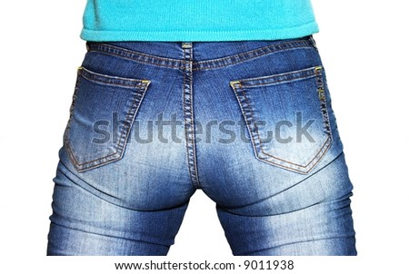 botty in jeans - stock photo