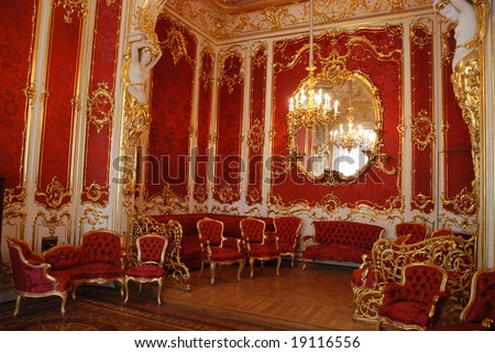 Boudoir for empress, palace in Saint Petersburg, Russia