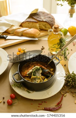 bouillabaisse  - stock photo
